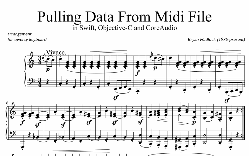 Pulling Data From Midi File in Swift, Objective-C and CoreAudio
